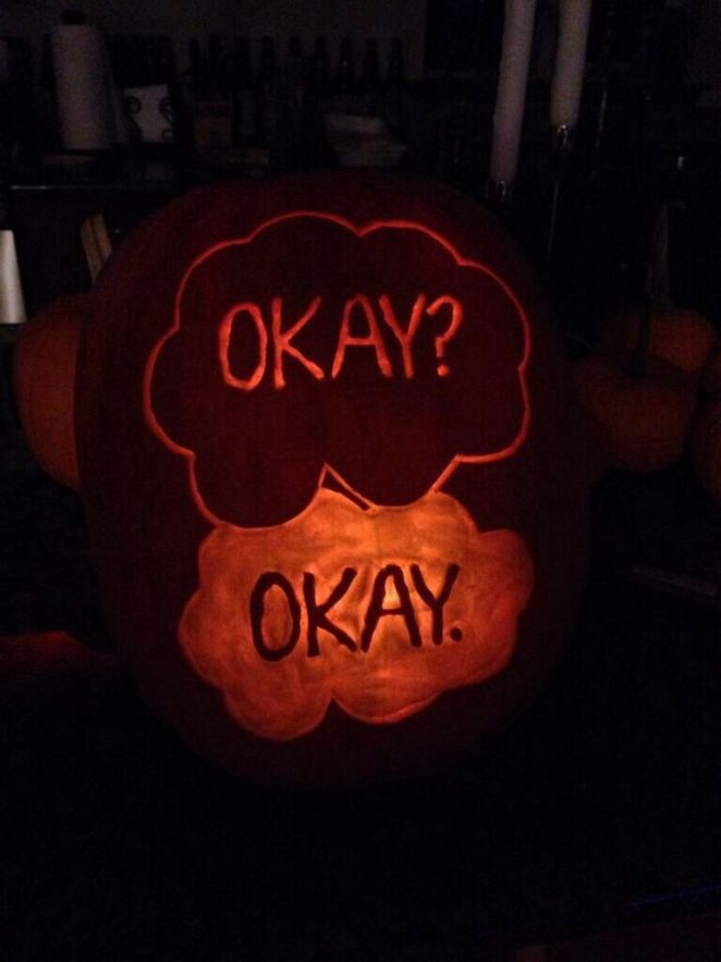 _The Fault in Ours Stars_ pumpkin_